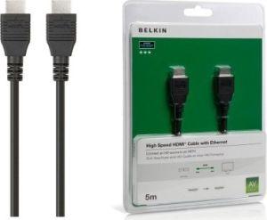 Obrázok pre výrobcu BELKIN HDMI - HDMI 1.4 AV kabel Nikl, černý, 5 m