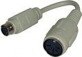 Obrázok pre výrobcu Klávesnica Redukcia, PS/2 M-5 pin F, 0.09, čierna, s káblom