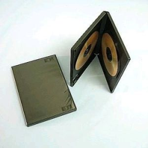 Obrázok pre výrobcu Box na 2 DVD, 14mm hrubý, čierny cena za 1ks