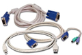 Obrázok pre výrobcu KVM kabel, 2.7 m, PS/2, USB, VGA, audio kit