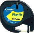 Obrázok pre výrobcu Dymo originál páska do tlačiarne štítkov, Dymo, 59423, S0721570, čierny tlač/žltý podklad, 4m, 12mm, LetraTag plastová páska