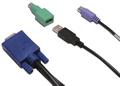 Obrázok pre výrobcu KVM kabel, 4,5 m, PS/2 nebo USB kláv. a myš, VGA