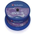 Obrázok pre výrobcu Verbatim DVD+R(1ks)Spindle/General Retail/16x/4.7GB bulk