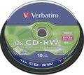 Obrázok pre výrobcu Verbatim CD-RW(10-Pack)Spindle/8x-12x/High Speed/DLP/700MB