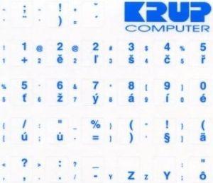 Obrázok pre výrobcu polepka na klávesnici - CZ/SK modrá