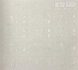 Obrázok pre výrobcu polepky na klávesnice - CZ/SK, Biele