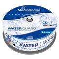 Obrázok pre výrobcu MEDIARANGE CD-R 700MB 52x Waterguard Photo Inkjet Fullprintable spindl 25pck/bal