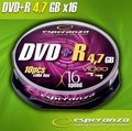 Obrázok pre výrobcu DVD+R Esperanza [ cakebox 10 | 4.7GB | 16x ]