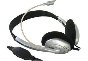 Obrázok pre výrobcu 4World slúchadlá s mikrofónom strieborné, regulácia hlasitosti na kábli