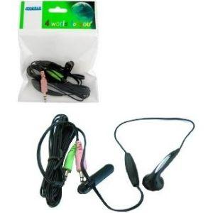 Obrázok pre výrobcu 4World Slúchadlo s mini-mikrofónom pre Skype