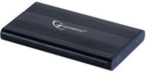 """Obrázok pre výrobcu Gembird Externý USB 2.0 case, 2,5"""" SATA, čierny hliník"""