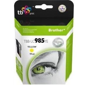 Obrázok pre výrobcu Ink. kazeta TB kompat. s Brother LC 985 YE 100% N