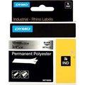 Obrázok pre výrobcu Dymo originál páska do tlačiarne štítkov, Dymo, 18487, čierny tlač/metalický podklad, 5.5m, 19mm, RHINO permanentná polyesterová D