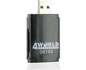 Obrázok pre výrobcu 4World čítačka flash kariet USB 2.0 ALL-in-ONE MS/M2/SD/microSD/MMC PenDrive