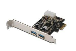 Obrázok pre výrobcu Digitus USB 3.0, 2-Port, PCI Express Add-On, 2 Ports A/F; 1x LP bracket, NEC uPD720200 chipset