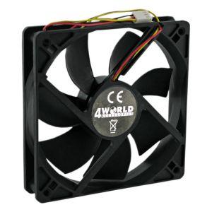 Obrázok pre výrobcu 4World Ventilátor pre PC skrine 120x120x25mm, 3-pin, klzné ložisko