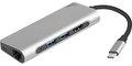 Obrázok pre výrobcu Dokovací stanice - multifunkční adaptér Natec Fowler, USB-C, 2x USB 3.0, HDMI 4K, RJ45, Type-C, SD