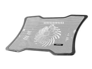 "Obrázok pre výrobcu NATEC laptop cooling pad MACAW White (12,1""-15,6"") silent fan with LED backlig"