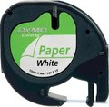Obrázok pre výrobcu Dymo originál páska do tlačiarne štítkov, Dymo, 59421, S0721500, čierny tlač/biely podklad, 4m, 12mm, LetraTag papierová páska