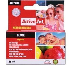 Obrázok pre výrobcu Atramentová náplň ActiveJet AC-24BK black [ 9ml | 100% nový | Canon BCI-24 BK ]