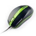 Obrázok pre výrobcu E-Blue Myš S-brigo-S, optická, 3tl., 1 koliesko, drôtová (USB), zelená, 1480dpi