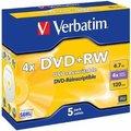 Obrázok pre výrobcu Verbatim DVD+RW(1ks)Jewel/4x/DLP/4.7GB