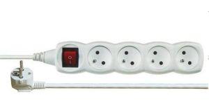 Obrázok pre výrobcu Prodlužovací přívod 230V, 3m, 4 zásuvky + vypínač
