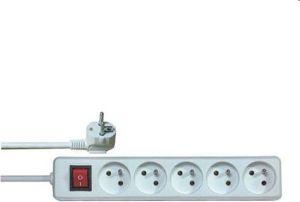 Obrázok pre výrobcu Prodlužovací přívod 230V, 2m, 5 zásuvek + vypínač