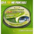 Obrázok pre výrobcu CD-R Esperanza [ cakebox 10 | 700MB | x52x | pre tlač | Fullface ]