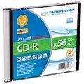 Obrázok pre výrobcu Esperanza CD-R [ slim jewel case 1 | 700MB | 56x | Silver ] - kartón 200 ks