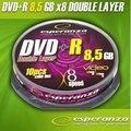 Obrázok pre výrobcu DVD+R Double Layer Esperanza [ cakebox10 | 8,5 GB | 8x ]