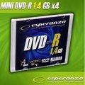 Obrázok pre výrobcu mini DVD-R Esperanza [ slim jewel case 1 | 1.4GB | 4x ]