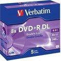 Obrázok pre výrobcu Verbatim DVD+R(1ks)DoubleLayer/Jewel/8x/8,5GB