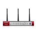 Obrázok pre výrobcu ZyXEL USG20-VPN, VPN Firewall, 10x VPN (IPSec/L2TP), up to 15 SSL (5 included), 1x WAN, 1x SFP, 4x LAN/DMZ, 1x USB port