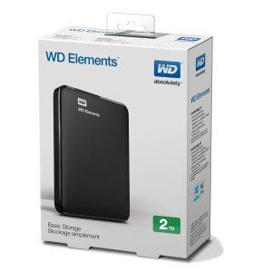 "Obrázok pre výrobcu WD Elements Portable 2.5"" externý HDD 2TB, USB 3.0, SmartWare SW, čierny"