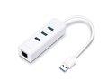Obrázok pre výrobcu TP-LINK UE330 USB 3.0 to Gigabit Ethernet Adapter, 3 port USB 3.0 HUB, 1x RJ45 Gigabit