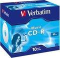 Obrázok pre výrobcu Verbatim CD-R Audio Verbatim [ jewel case 10 | 80min | 4x | Live it! ]