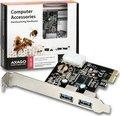 Obrázok pre výrobcu AXAGO, PCEU-23E, PCI express, 2x USB 3.0 external, chip Etron, Full profile