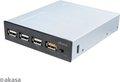 Obrázok pre výrobcu AKASA USB nabíjecí panel 3x USB 2.0 + 1x USB fast