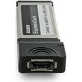 Obrázok pre výrobcu 4World řadič ExpressCard | Power eSATA  Combo 1x eSATA 1x USB 2.0