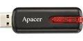 Obrázok pre výrobcu Apacer USB flash disk, 2.0, 64GB, AH326, čierny, červený, AP64GAH326B-1, s výsuvným konektorom