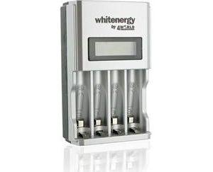Obrázok pre výrobcu Whitenergy rýchla nabíjačka LCD 1800mA pre 4 akumulátory AA/AAA
