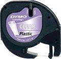 Obrázok pre výrobcu Dymo originál páska do tlačiarne štítkov, Dymo, 12267, S0721530, čierny tlač/priehľadný podklad, 4m, 12mm, LetraTag plastová páska