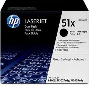 Obrázok pre výrobcu Q7551XD Toner pre LaserJet P3005/M3027mfp/M3035mfp 2x 13000 str.