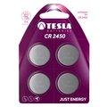 Obrázok pre výrobcu TESLA - baterie TESLA CR2450, 4ks, CR2450