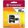 Obrázok pre výrobcu Transcend Micro SDHC karta 16GB Class 4 + Adaptér
