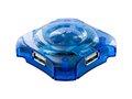 Obrázok pre výrobcu 4World HUB 4xUSB 2.0 pasivní Blue