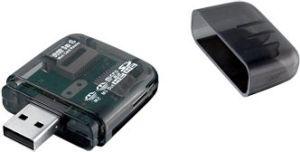 Obrázok pre výrobcu I-BOX R014 Čítačka kariet USB, 4 sloty, externá, čierna