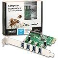 Obrázok pre výrobcu AXAGO, PCEU-43R, PCI express, 2x USB 3.0 external, chip Renesas, Low profile + Full profile