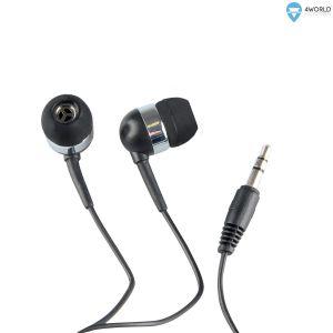 Obrázok pre výrobcu 4World Sluchátka do uší 3.5mm 1.2m Black